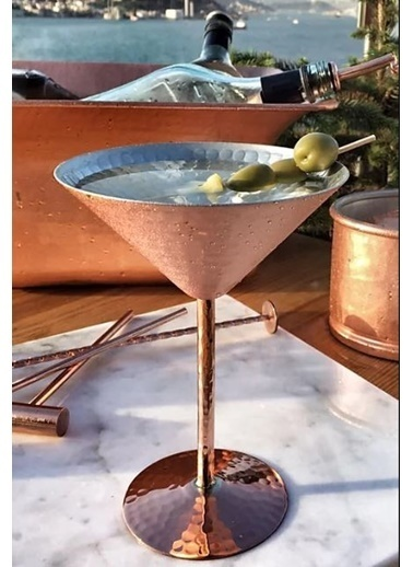Bakır İstanbul Musketeers Bakır Martini Kadehi Renkli